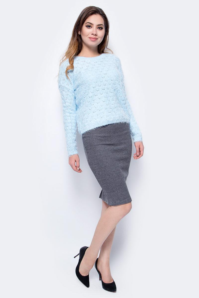 Джемпер женский Sela, цвет: снежно-голубой. JR-314/025-7413. Размер L (48)JR-314/025-7413