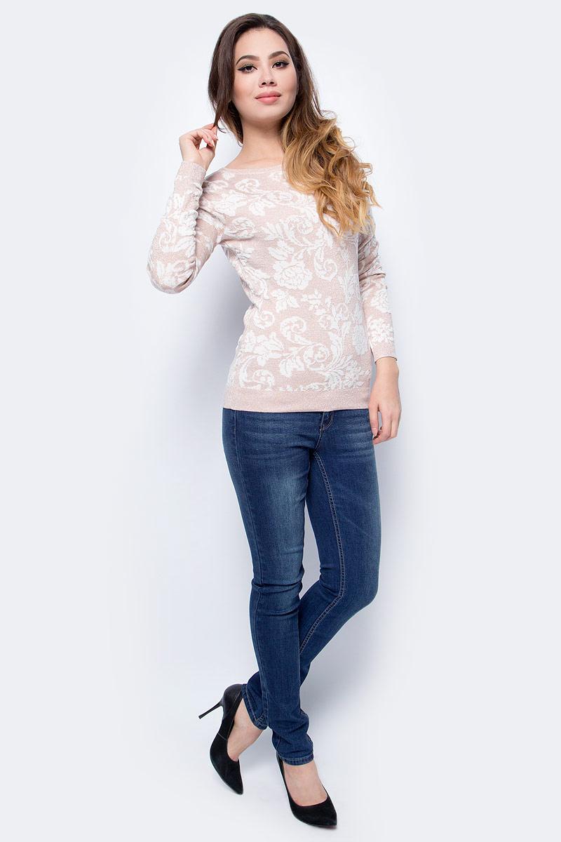 Джемпер женский Sela, цвет: бледный персик. JR-114/1242-7413. Размер XS (42)JR-114/1242-7413