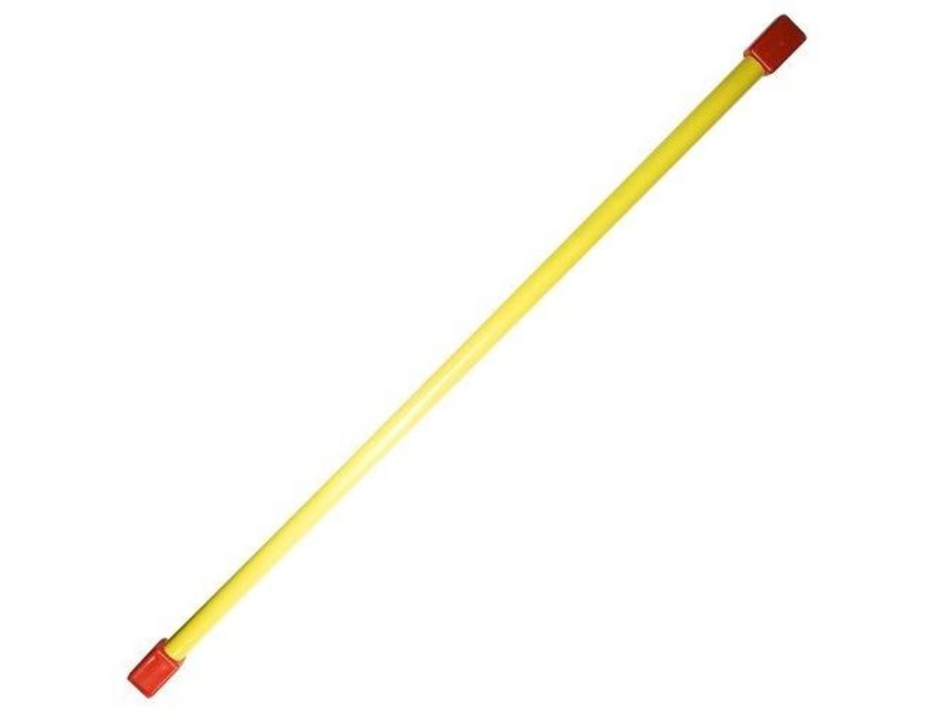 Бодибар Mgroup, цвет: желтый, 2 кгББ-2Бодибар является полноценной альтернативой гантелям, медицинболу или штанге. Комплексы упражнений с бодибаром часто включают в программу тренировок по фитнессу, аэробике и атлетике. Также бодибар может стать частью компактного домашнего тренажерного зала. Занятия с бодибаром укрепляют мышцы спины, способствуют исправлению осанки, подтягивают мышцы брюшного пресса, развивают координацию, двигательные качества и выносливость.Основные характеристики:Вес: 2 кг,Длина: 1200 мм,Материал: сталь, порошковое покрытие,Наконечник: пластик.
