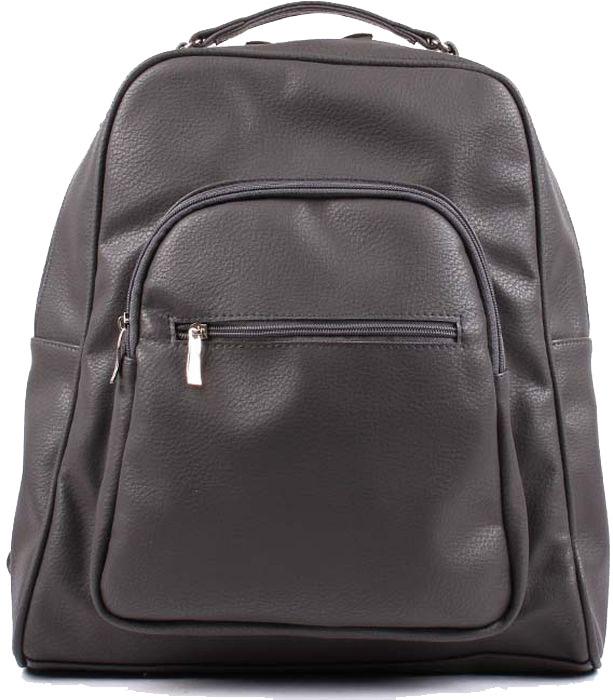 Рюкзак женский Медведково, цвет: темно-серый. 17с6282-к14