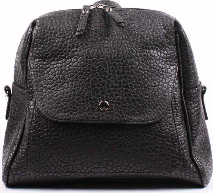 Рюкзак женский Медведково, цвет: черный. 17с6223-к14