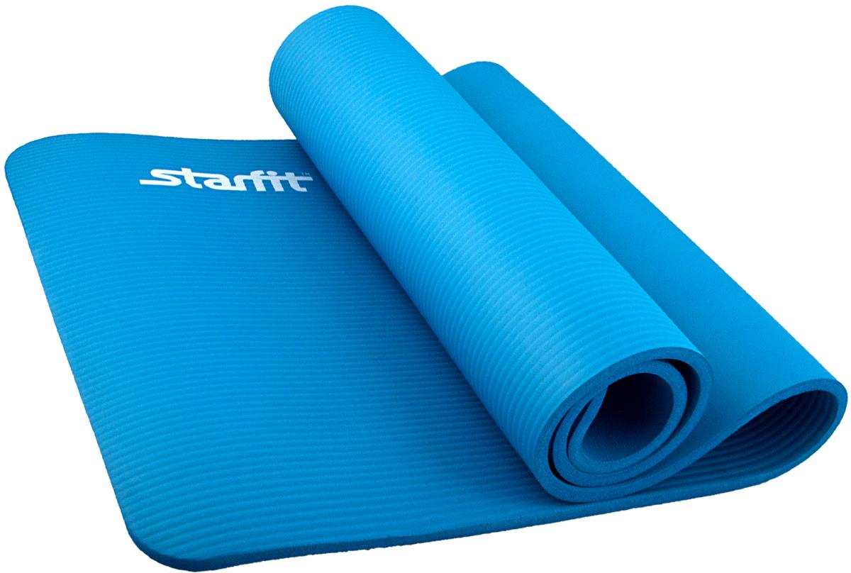Коврик для йоги Starfit, цвет: синий, 183 x 58 x 1,2 см starfit bk 108 x bike