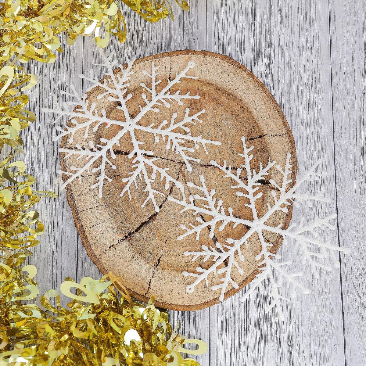 Набор новогодних подвесных украшений Снежинка, диаметр 14 см, 6 шт2371406Набор новогодних подвесных украшений отлично подойдет для декорации вашего дома и новогодней ели. С помощью специальной петельки украшение можно повесить в любом понравившемся вам месте. Но, конечно, удачнее всего оно будет смотреться на праздничной елке.Елочная игрушка - символ Нового года. Она несет в себе волшебство и красоту праздника. Такое украшение создаст в вашем доме атмосферу праздника, веселья и радости.