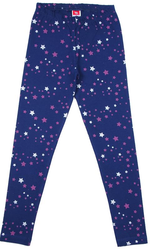 Леггинсы для девочки Cherubino, цвет: темно-синий. CWJ 7633 (162). Размер 134CWJ 7633 (162)Леггинсы для девочки, из набивного трикотажа с эластаном.