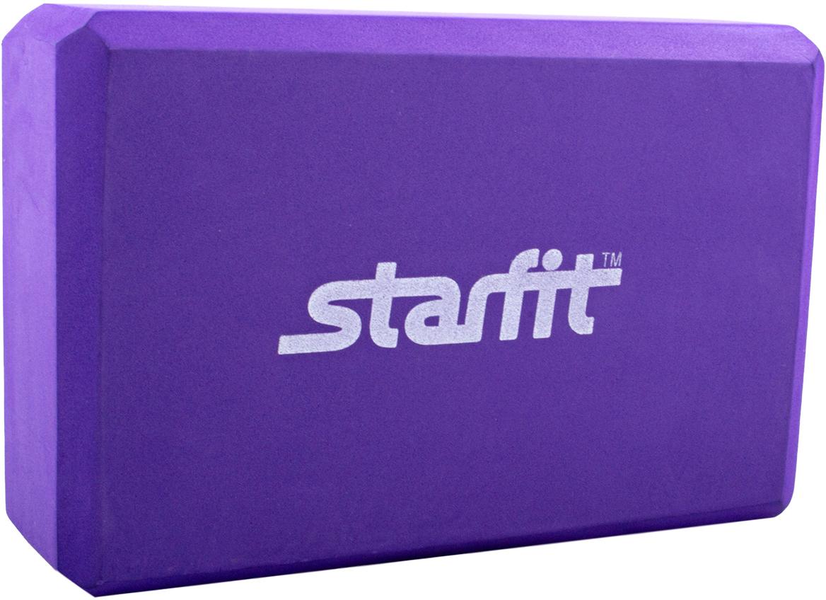 Блок для йоги Starfit FA-101, цвет: фиолетовый, 22,5 х 15 х 7,8 см бедра 101 см какой размер