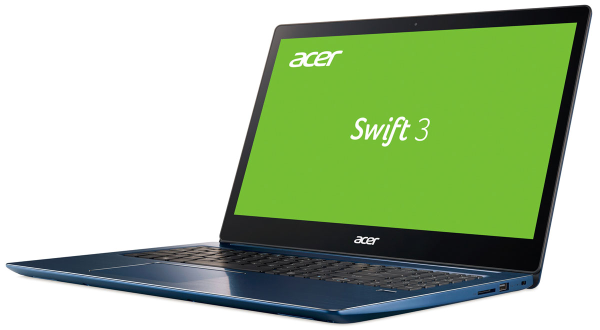 Acer Swift 3 SF315-51-56CG, BlueSF315-51-56CGAcer Swift 3 SF315-51-56CG Intel Core i5-7200U/8 GB DDR4/256 GB SSD/15.6 FHD IPS with glass/UMA/WiFi + BT/4-cell /Boot-up Linux/2.1 кг/Blue