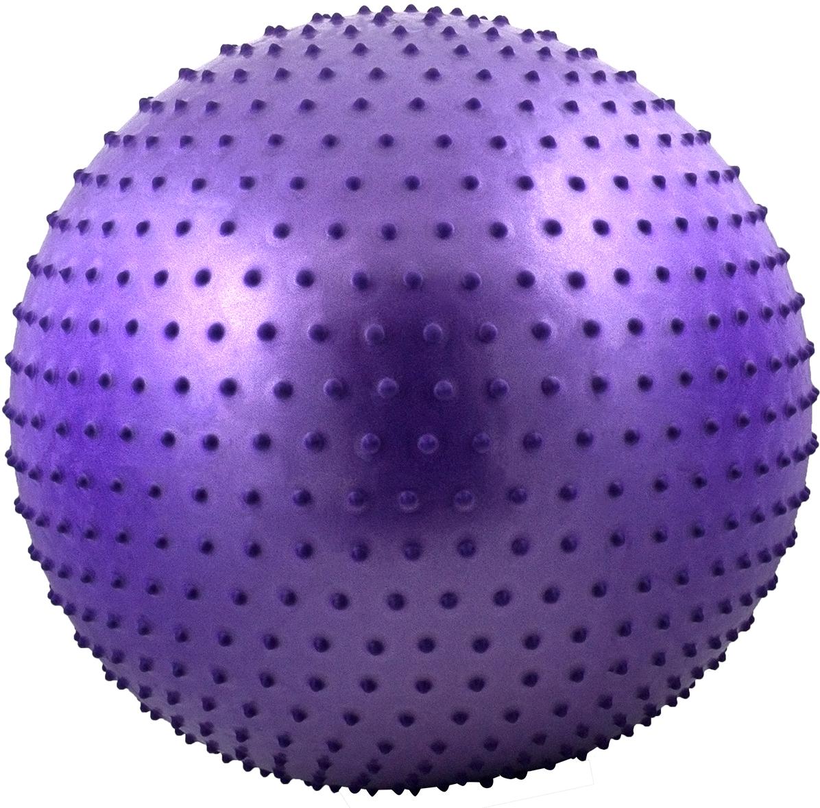 Мяч гимнастический Starfit, антивзрыв, массажный, цвет: фиолетовый, диаметр 75 см эспандеры starfit эспандер starfit es 702 power twister черный 50 кг