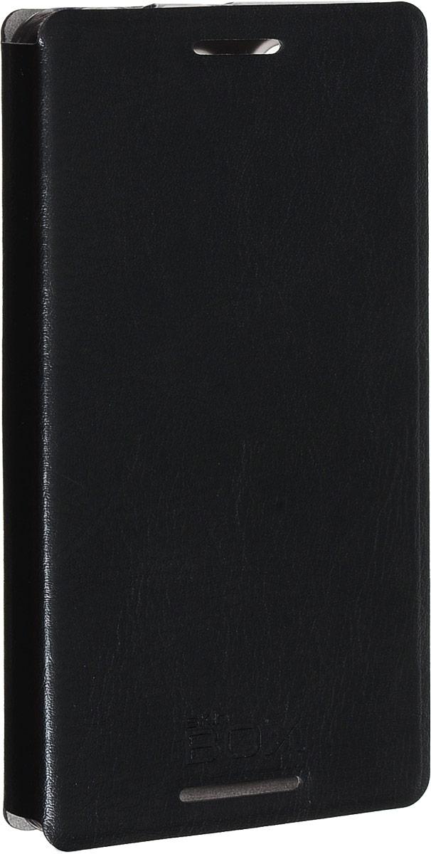 Skinbox Lux чехол для Sony Xperia Z3 Compact, Black skinbox lux чехол для zte blade s6 black