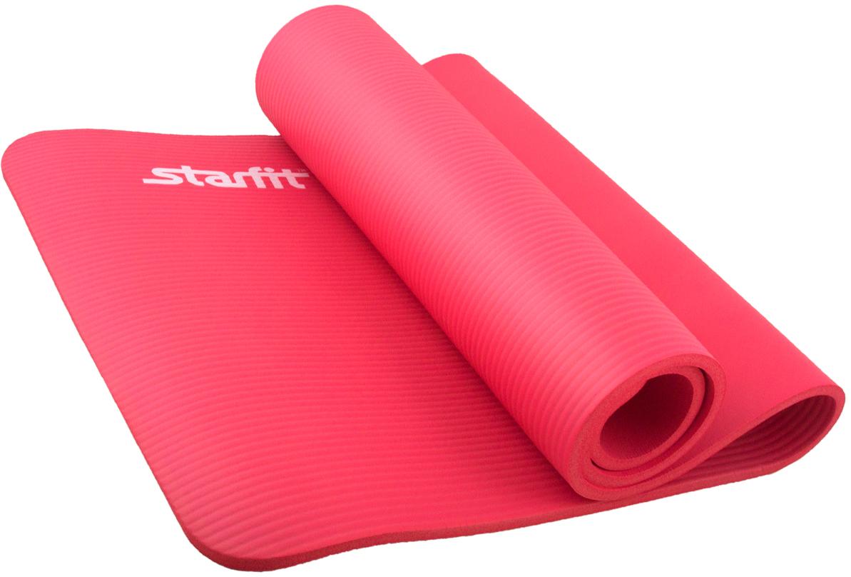 Коврик для йоги Starfit, цвет: коралловый, 183 x 58 x 1,2 см starfit bk 108 x bike