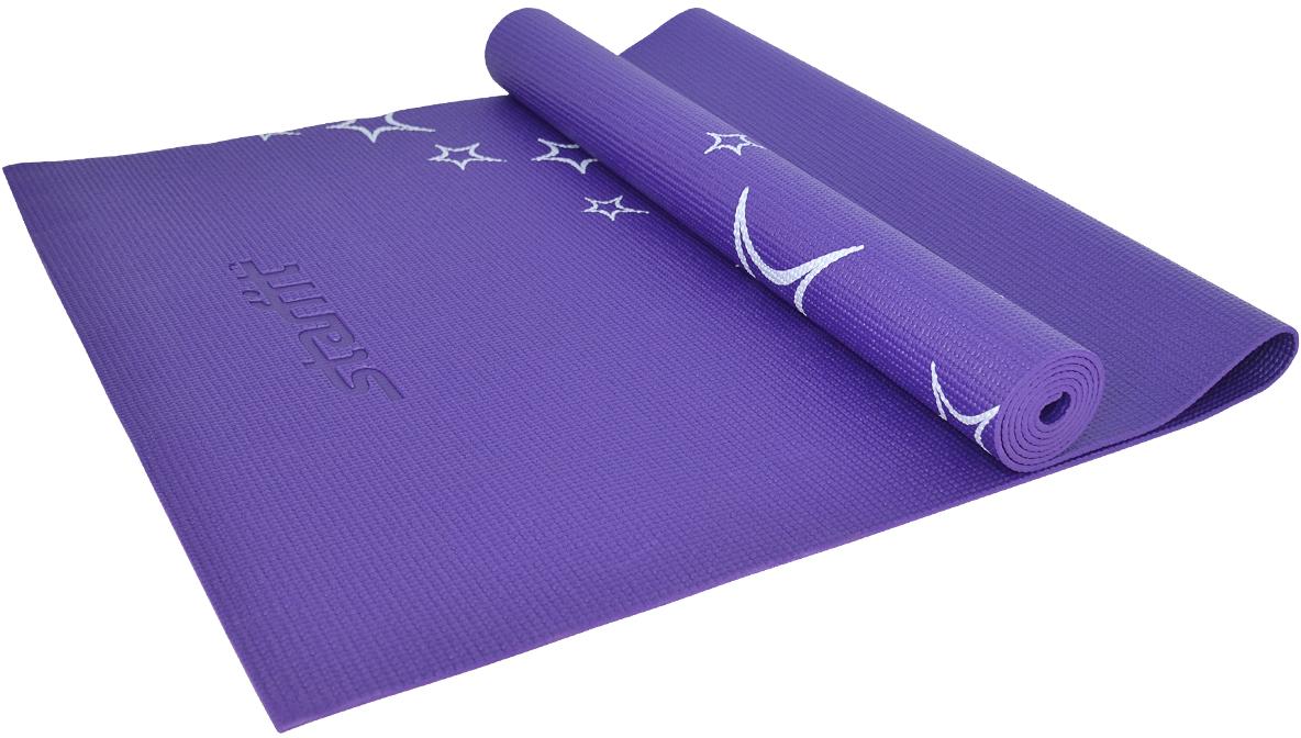 Коврик для йоги Starfit FM-102, цвет: фиолетовый, 173 х 61 х 0,6 смУТ-00008845Коврик для йоги Star Fit FM-102 - это незаменимый аксессуар для любого спортсмена как во время тренировки, так и во время пре-стретчинга (растяжки до тренировки) и стретчинга (растяжки после тренировки). Выполнен из высококачественного ПВХ и оформлен оригинальным рисунком в виде звезд. Коврик используется в фитнесе, йоге, функциональном тренинге. Его используют спортсмены различных видов спорта в своем тренировочном процессе.Предпочтительно использовать без обуви. Если в обуви, то с мягкой подошвой, чтобы избежать разрыва поверхности коврика.