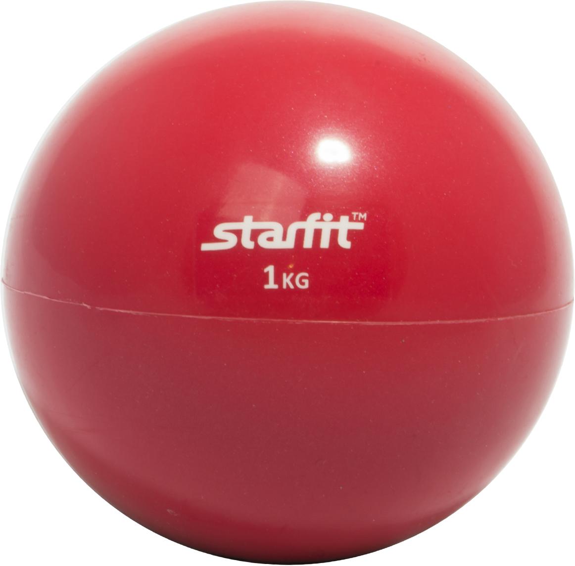 Медицинбол Starfit GB-703, цвет: красный, 1 кгУТ-00008272Медицинбол GB-703 -это качественная модель Star Fit, которую используют и профессиональные спортсмены и любители. Медицинбол Star Fit имеет яркую цветовую гамму, которая никого не оставит равнодушным.Важный аксессуар для функциональной тренировки тела. Его используют в групповых программах, функциональном тренинге, бодибилдинге, фитнесе и пилатесе. Помогает в тренировке мышц пресса, мышц рук, грудной клетки, спины, плеч, ног и ягодиц. Его применяют для разнообразия и новизны в тренировках, что позволяет с помощью него провести полноценную тренировку для всего организма. Характеристики:Материал: ПВХНаполнитель: песокВес, кг: 1Цвет: красныйКоличество в упаковке, шт: 1Производство: КНР
