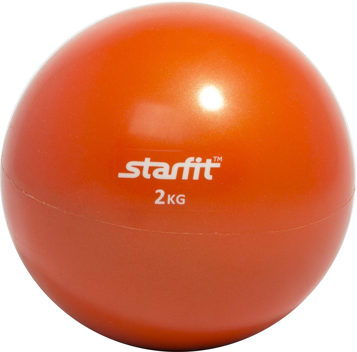 Медицинбол Starfit GB-703, цвет: оранжевый, 2 кг эспандеры starfit эспандер starfit es 702 power twister черный 50 кг