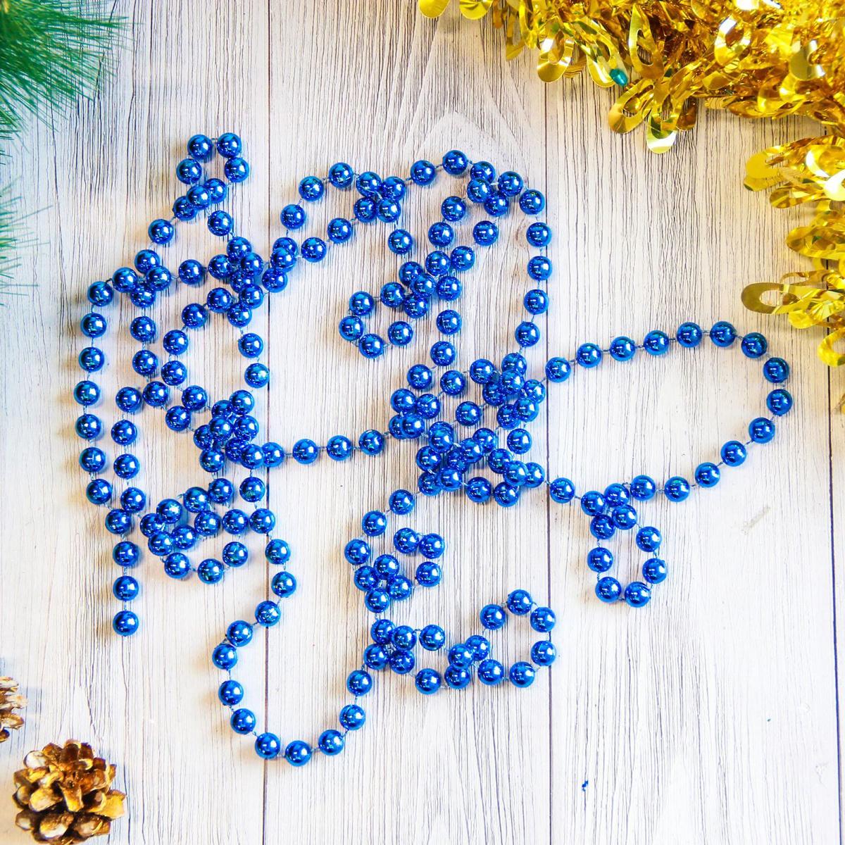 Бусы на елку Шарики, цвет: синий, диаметр 0,9 см, длина 2,7 м2371387Невозможно представить нашу жизнь без праздников! Мы всегда ждем их и предвкушаем, обдумываем, как проведем памятный день, тщательно выбираем подарки и аксессуары, ведь именно они создают и поддерживают торжественный настрой. Это отличный выбор, который привнесет атмосферу праздника в ваш дом!