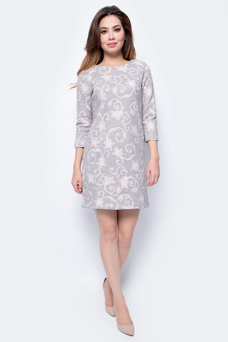 цены Платье Sela, цвет: серый меланж. DK-117/1175-7413. Размер M (46)