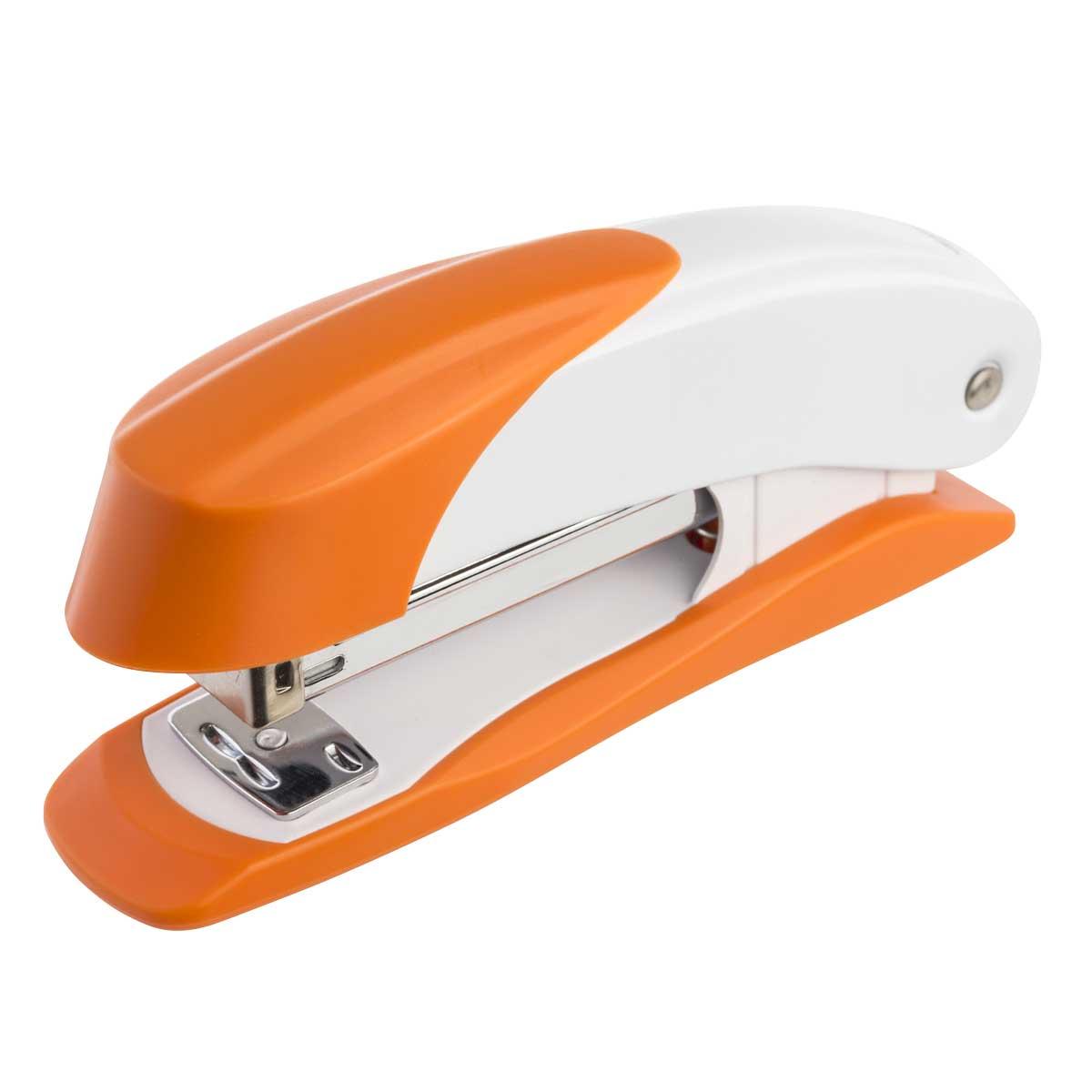 Laco Степлер Н400 скоба №24/6-№26/6 на 30 листов цвет оранжевый2630124Классический металлический степлер, загрузка до 100 скоб №24/6, №26/6. Пробивная толщина 30 листов. Глубина прошивки - 64 мм, открытое и закрытое скрепление. Цвет - оранжевый. Гарантия 5 лет