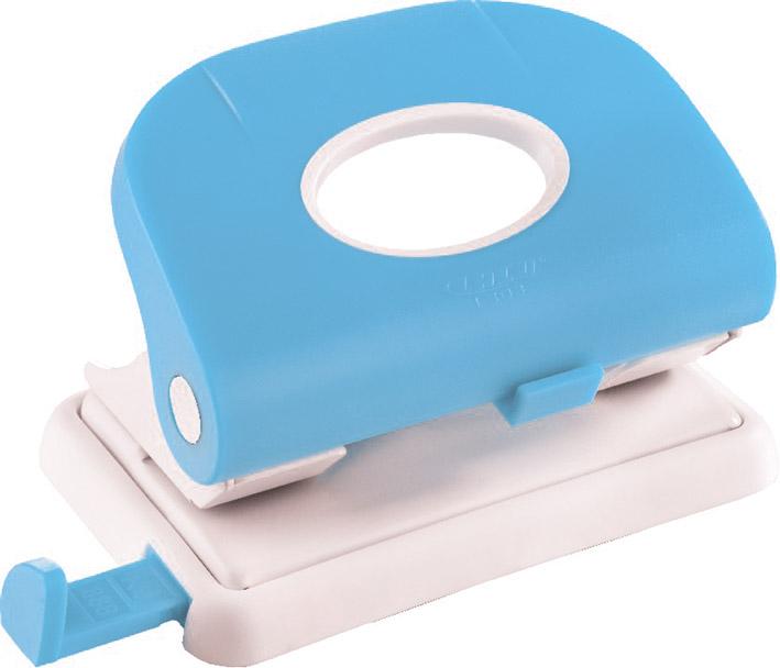 Laco Дырокол L 303 с выдвижной линейкой цвет голубой2650718Металлическое надежное основание в сочетании с пластиковым прорезиненным корпусом. Имеет выдвижную пластиковую линейку, регулирующую место перфорации. В комплекте к каждому дыроколу прилагаются 5 сменных колец – черного, синего, красного, зеленого и белого цветов. Толщина прокола до 15 листов. Цвет - голубой