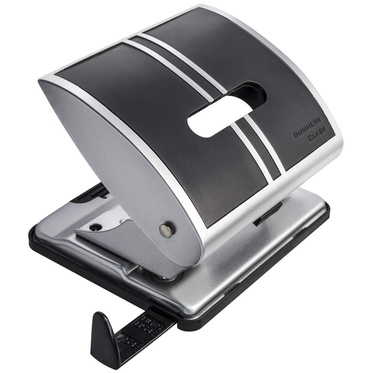 Laco Дырокол BC519 цвет черный2650801Мощный металлический дырокол Laco с пластиковыми вставками. Имеет выдвижную пластиковую линейку, регулирующую место перфорации. Толщина прокола до 25 листов.