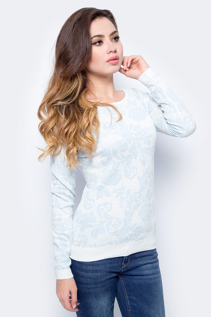 Джемпер женский Sela, цвет: прозрачный голубой. JR-114/1242-7413. Размер XL (50) все цены