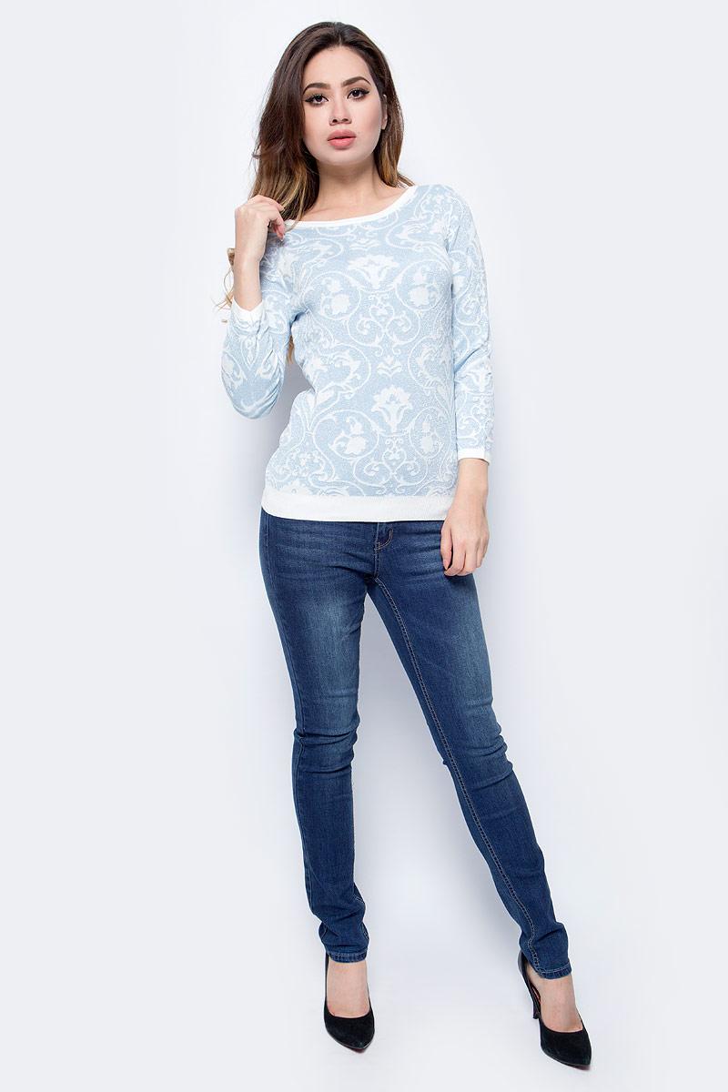 Джемпер женский Sela, цвет: прозрачный голубой. JR-114/2045-7413. Размер S (44)JR-114/2045-7413