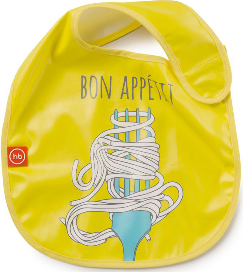 Happy Baby Нагрудник на липучке 16009 YELLOW