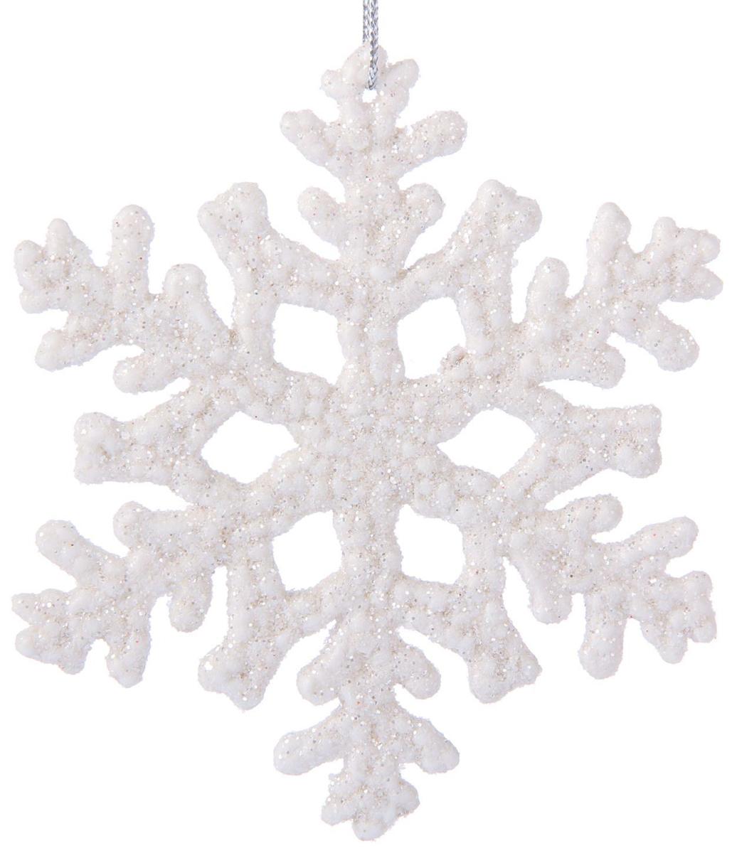 Набор новогодних подвесных украшений Белая снежинка, диаметр 10 см, 3 шт2371296Набор новогодних подвесных украшений отлично подойдет для декорации вашего дома и новогодней ели. С помощью специальной петельки украшение можно повесить в любом понравившемся вам месте. Но, конечно, удачнее всего оно будет смотреться на праздничной елке.Елочная игрушка - символ Нового года. Она несет в себе волшебство и красоту праздника. Такое украшение создаст в вашем доме атмосферу праздника, веселья и радости.