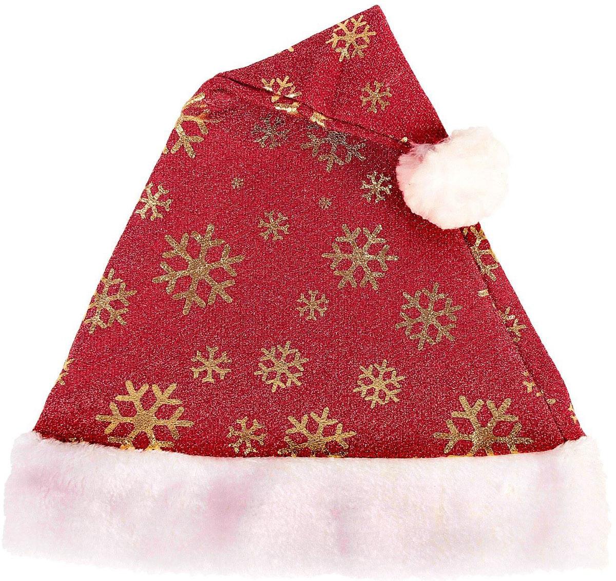 Колпак новогодний Искринка. Снежинки, 28 х 40 см2363890Невозможно представить нашу жизнь без праздников! Мы всегда ждем их и предвкушаем, обдумываем, как проведем памятный день, тщательно выбираем подарки и аксессуары, ведь именно они создают и поддерживают торжественный настрой. Это отличный выбор, который привнесет атмосферу праздника в ваш дом!