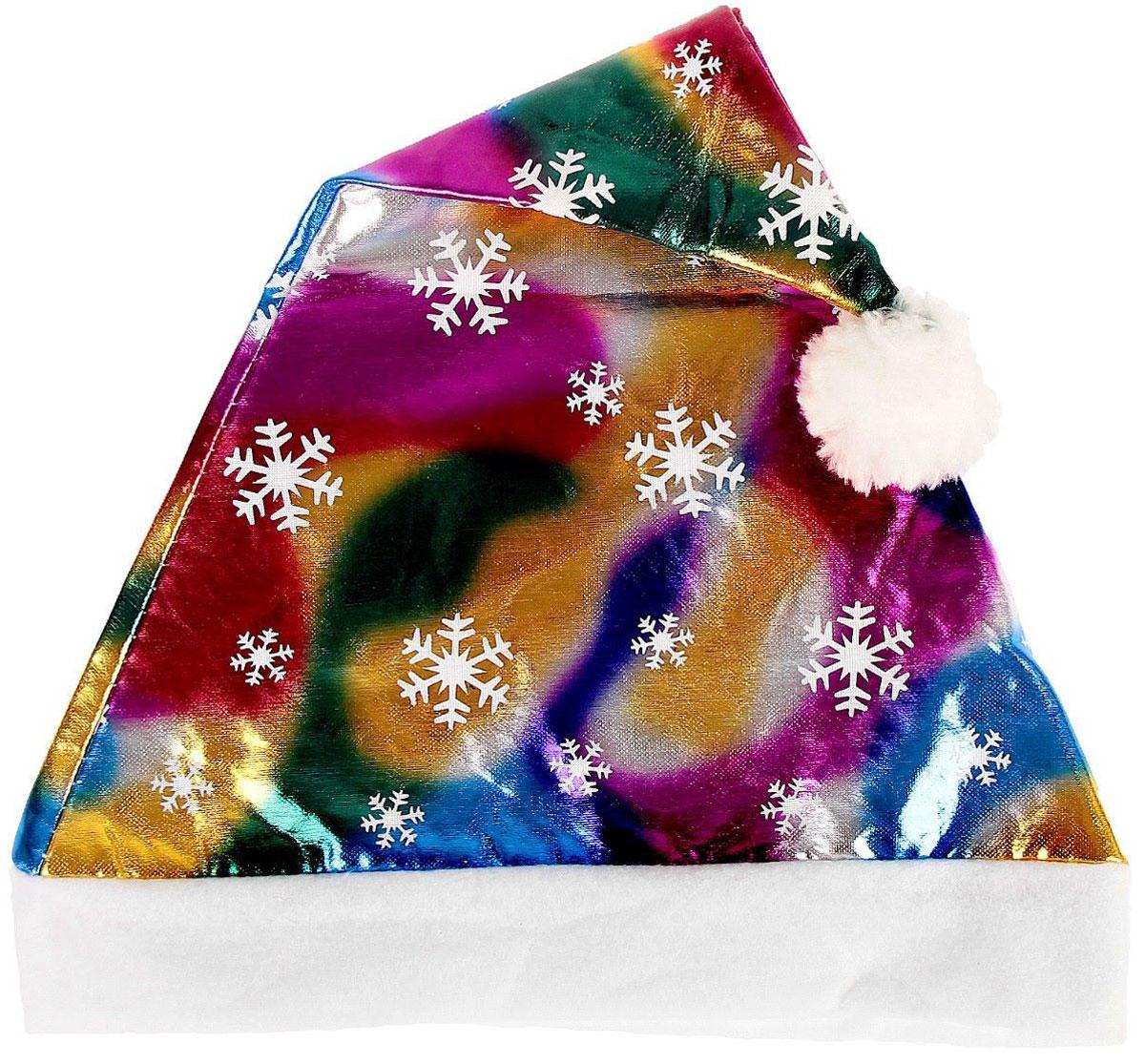 Колпак новогодний Мерцание. Радуга со снежинками, 27 х 40 см2363887Невозможно представить нашу жизнь без праздников! Мы всегда ждем их и предвкушаем, обдумываем, как проведем памятный день, тщательно выбираем подарки и аксессуары, ведь именно они создают и поддерживают торжественный настрой. Это отличный выбор, который привнесет атмосферу праздника в ваш дом!