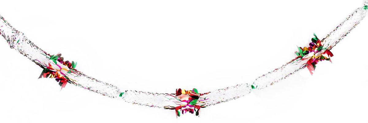 Растяжка декоративная Волнистая, диаметр 21 см, длина 3 м2363883Невозможно представить нашу жизнь без праздников! Мы всегда ждем их и предвкушаем, обдумываем, как проведем памятный день, тщательно выбираем подарки и аксессуары, ведь именно они создают и поддерживают торжественный настрой. Это отличный выбор, который привнесет атмосферу праздника в ваш дом!