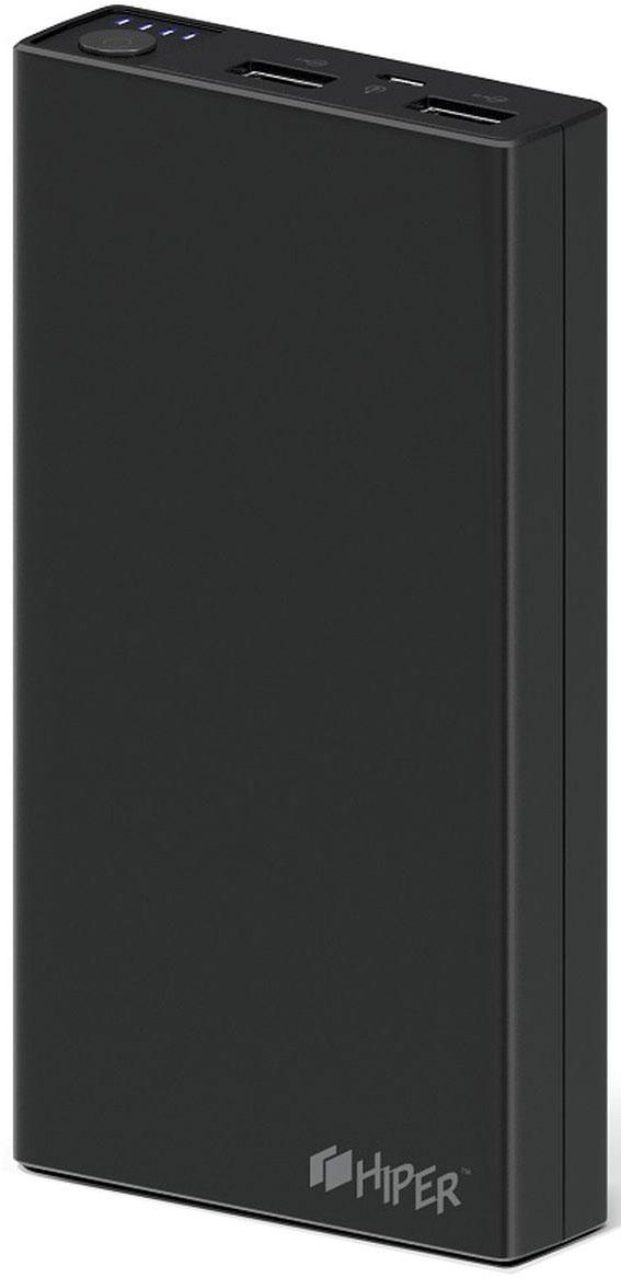 HIPER RP15000, Black внешний аккумулятор (15000 мАч)1200708Портативное зарядное устройство HIPER RP15000 совместимо с различными мобильными девайсами – смартфонами, планшетами, портативными мультимедийными плеерами и другими. Гаджет оснащается двумя разъемами USB, сила тока на контактах которых равна 1 и 2,1 А соответственно.Превосходная надежность. Литий-ионная батарея способна выдержать до 500 циклов зарядки, что соответствует нескольким годам эксплуатации в нормальном режиме.Максимальное удобство. Светодиодный индикатор позволяет определить остаточный уровень заряда аккумулятора. Каждая из его четырех ламп соответствует 25 % емкости батареи.Большая емкость. Аккумулятора на 15000 мАч достаточно для 6 циклов заряда смартфона и 1-2 – современного планшетного компьютера.