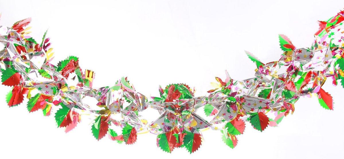 Растяжка декоративная Листочки, диаметр 21 см, длина 2 м2363882Невозможно представить нашу жизнь без праздников! Мы всегда ждем их и предвкушаем, обдумываем, как проведем памятный день, тщательно выбираем подарки и аксессуары, ведь именно они создают и поддерживают торжественный настрой. Это отличный выбор, который привнесет атмосферу праздника в ваш дом!