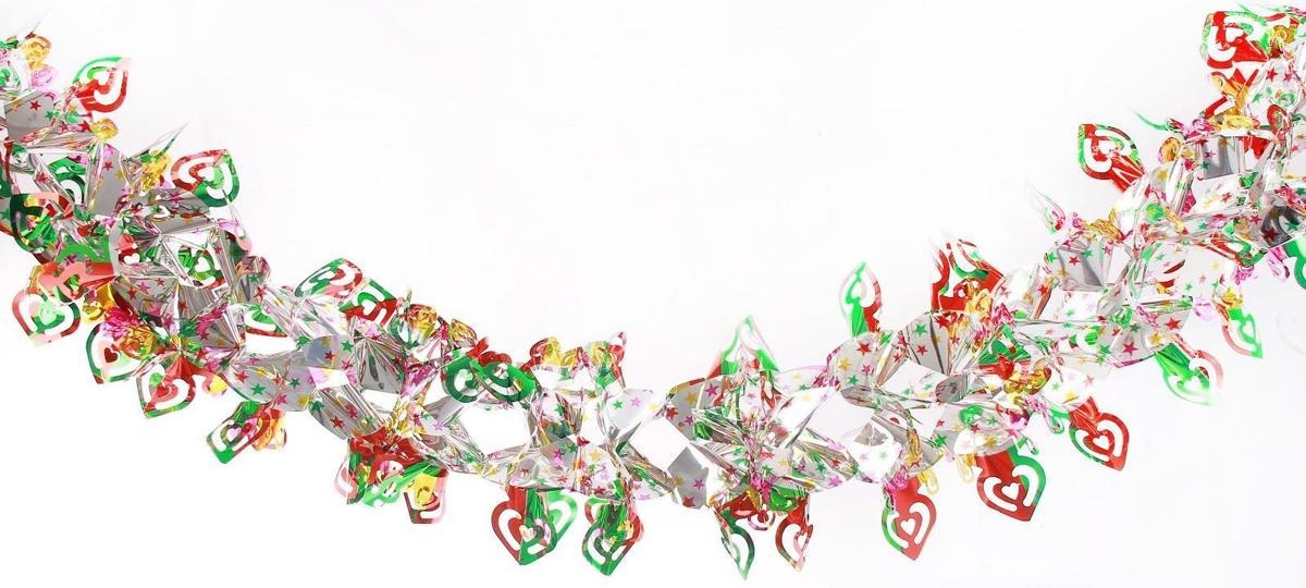 Растяжка декоративная Сердечки, диаметр 21 см, длина 2 м2363881Невозможно представить нашу жизнь без праздников! Мы всегда ждем их и предвкушаем, обдумываем, как проведем памятный день, тщательно выбираем подарки и аксессуары, ведь именно они создают и поддерживают торжественный настрой. Это отличный выбор, который привнесет атмосферу праздника в ваш дом!