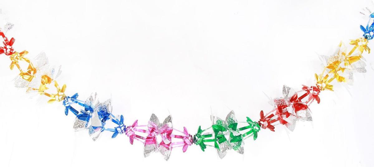 Растяжка декоративная Лепестки, диаметр 18 см, длина 2 м2363872Невозможно представить нашу жизнь без праздников! Мы всегда ждем их и предвкушаем, обдумываем, как проведем памятный день, тщательно выбираем подарки и аксессуары, ведь именно они создают и поддерживают торжественный настрой. Это отличный выбор, который привнесет атмосферу праздника в ваш дом!