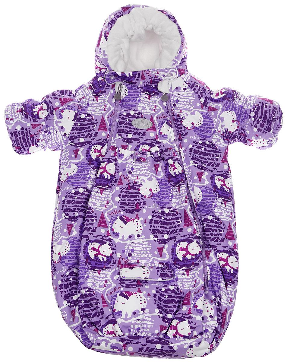 Конверт с рукавами детский Reike, цвет: фиолетовый. 392006_PBR purple. Размер 62392006_PBR purple