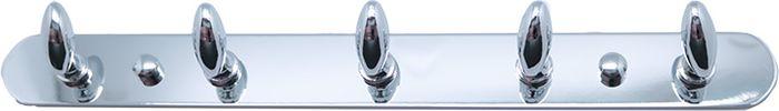 Планка для ванной Fixsen, с 5 крючками, цвет: хром. FX-1415 полотенцедержатель с 5 крючками 350мм ledeme l1915 5