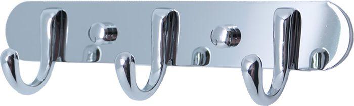 Планка для ванной Fixsen, с 3 крючками, цвет: хром. FX-17131713Планка 3 крючка