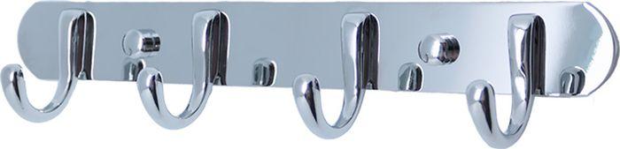 Планка для ванной Fixsen, с 4 крючками, цвет: хром. FX-17141714Планка с 4 четырьмя крючками изготовлена из нержавеющей стали с покрытием из хрома.