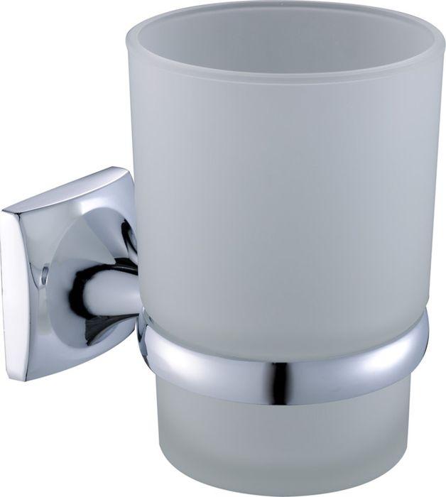 Подстаканник для ванной Grampus Ocean, цвет: хром2006Подстаканник одинарный Grampus Ocean изготовлен из латуни, металлического сплава и стекла. Он является не только функциональным элементом, но и прекрасно украсит интерьер любой ванной комнаты. Подстаканник крепится на стену с помощью саморезов.