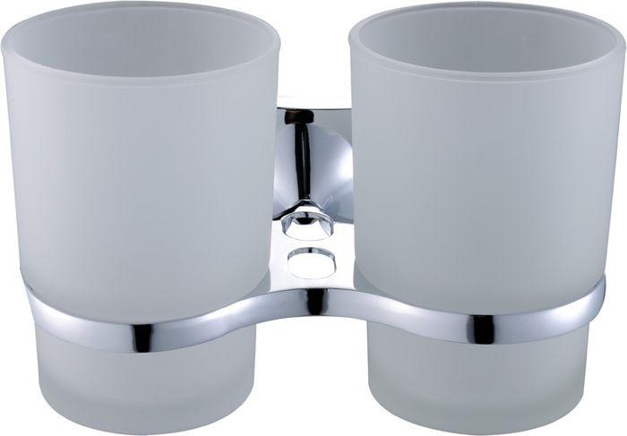 Подстаканник для ванной Grampus Ocean, двойной, цвет: хром2007Подстаканник двойной Grampus Ocean изготовлен из латуни, металлического сплава и стекла. Он является не только функциональным элементом, но и прекрасно украсит интерьер любой ванной комнаты. Подстаканник крепится на стену с помощью саморезов.