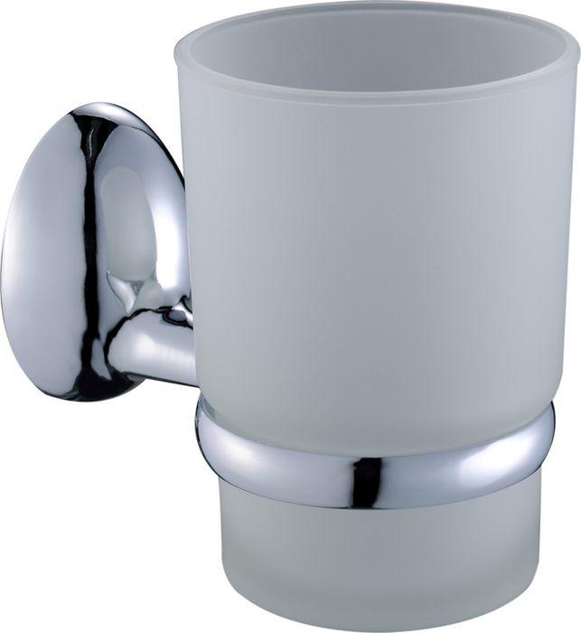 """Подстаканник одинарный Grampus """"Briz"""" изготовлен из металлического сплава и матового стекла. Он является не только функциональным элементом, но и прекрасно украсит интерьер любой ванной комнаты. Подстаканник крепится на стену с помощью крепежных винтов (входят в комплект)."""