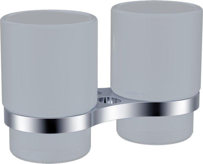 Подстаканник для ванной Grampus Briz, двойной, цвет: хром3007Подстаканник двойной Grampus Briz изготовлен из латуни, металлического сплава и стекла. Он является не только функциональным элементом, но и прекрасно украсит интерьер любой ванной комнаты. Подстаканник крепится на стену с помощью саморезов.