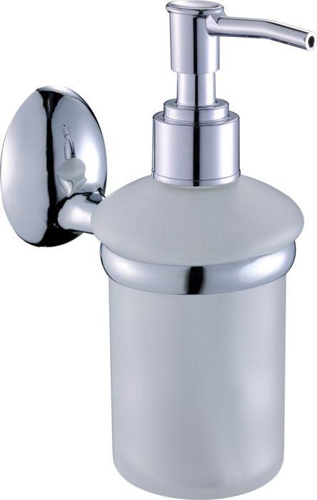 Дозатор жидкого мыла Grampus Briz, цвет: хром3012Настенный дозатор жидкого мыла Grampus Briz изготовлен из стекла и латуни. Продукция, изготовленная из латуни, характеризуется долговечностью, изделия не поддаются коррозии.Аксессуар выполнен в изысканном классическом стиле, он украсит интерьер ванной комнаты.