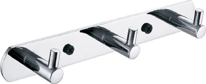 Планка для ванной Fixsen Hotel, с тремя крючками, цвет: хром планка для ванной fixsen с 5 крючками цвет хром fx 1415