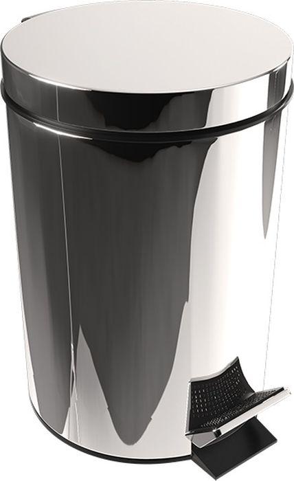 Ведро для мусора Fixsen Hotel, с педалью, цвет: хром, 8 л31024Удобное ведро для мусора Fixsen Hotel, с хромированной поверхностью и зеркальным блеском, с легкостью впишется в любой интерьер. Надежная система подъема крышки прослужит долго. Наличие педали обеспечивает удобство использования.Объем: 8 л.