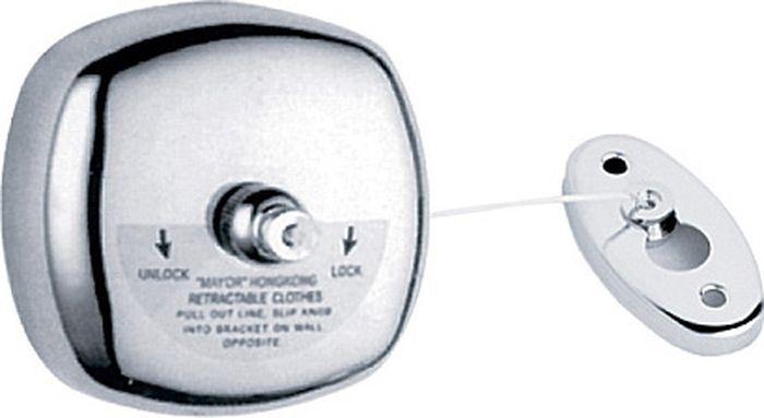 Шнур для белья Fixsen Hotel, вытяжной, цвет: хром31025Шнур вытяжной для белья
