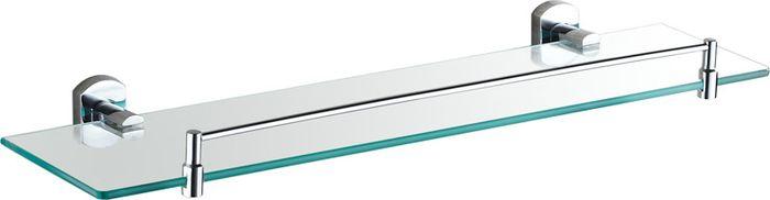 Полка для ванной комнаты Grampus Coral, цвет: хром7003Полка стеклянная