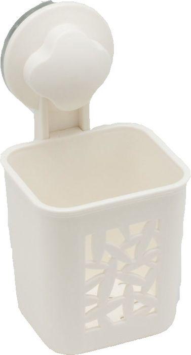 Подстаканник для ванной Grampus, одинарный, цвет: белый. GR-70827082Подстаканник одинарный Grampus изготовлен из пластика. Он является не только функциональным элементом, но и прекрасно украсит интерьер любой ванной комнаты. Подстаканник крепится на стену с помощью липучки.