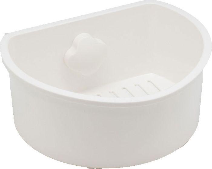 Полка для ванной Grampus, одноэтажная, цвет: белый. GR-73257325Полка Grampus с одним ярусом прекрасно впишется в интерьер любой ванной. Выполнена из пластика и крепится на присоску. Не занимает много места.