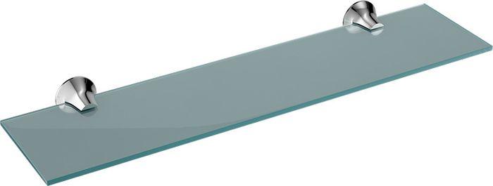 Полка для ванной комнаты Grampus Laguna, цвет: хром7803Полка стеклянная