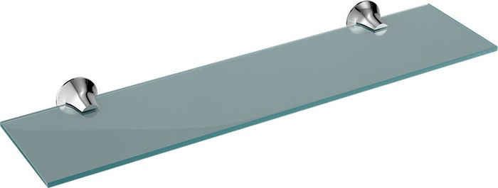 Полка для ванной комнаты Grampus Laguna, цвет: хром мыльница решетка grampus laguna цвет хром