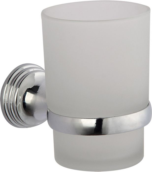 Подстаканник для ванной Grampus Laguna, одинарный, цвет: хром мыльница решетка grampus laguna цвет хром